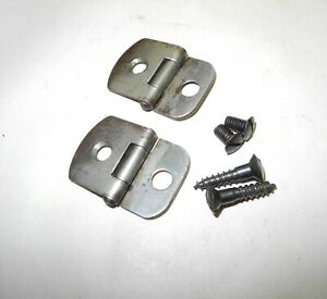 VINTAGE WHITE SEWING MACHINE HEAD HINGE SET FROM EARLY TREADLE MACHINE $24.95