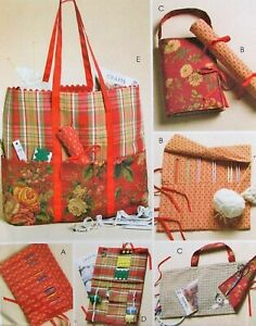 McCalls M4728 Knitting Crochet amp; Sewing Bags Cases Organizers Craft Pattern FF $3.52