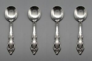Oneida Stainless Brahms Baby Spoons Set of Four USA Made