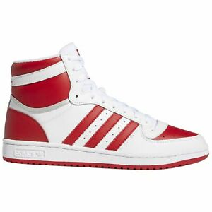 Adidas Top Ten RB Mens FV4925 White Scarlet Red Leather Athletic Shoes Size 10.5