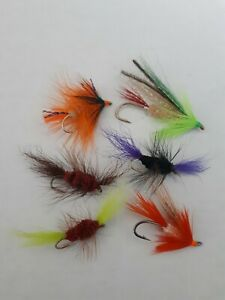 BUG amp; STREAMER FLY FISHING HOOK LOT SALMON TROUT....