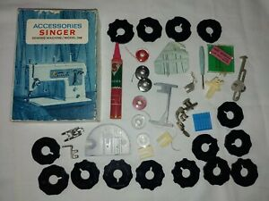 Vintage Singer Sewing Machine Accessories Model 348 Lot with Box $40.00