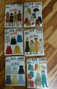 Lot of Six New Look For Kids Sewing Patterns Uncut $15.00
