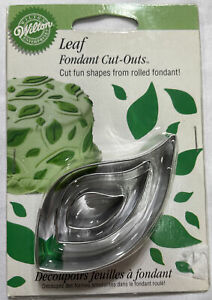 Wilton Leaf Fondant Cut Outs Cookie New in Box $7.95