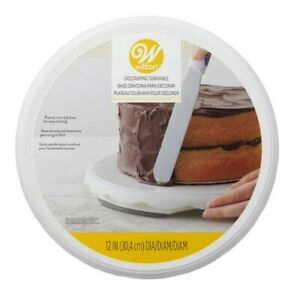 Wilton Rotating Cake Decorating Turntable 12 in #307 6715 $8.64
