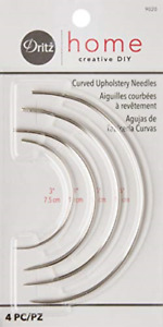 Dritz Home 9020 Curved Upholstery Hand Needles Size 3 4 5 amp; 6 Inch 4 Piece $7.36