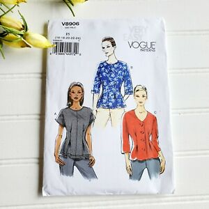 Vogue V8906 Loose Fitting Top Blouse Very Easy Sewing Pattern Size 16 24 Uncut $18.00
