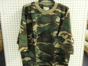 Camouflage Camo SS T Shirt Waffle Knit Big Mens TEE 6X WOODLAND Brand New N Pack