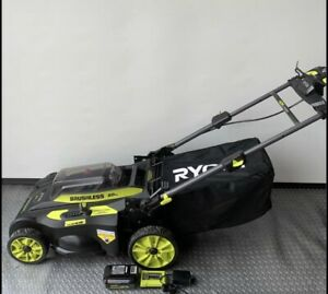 Ryobi 40V Brushless 20 in Cordless Self Propelled Lawn Mower Pick up only $189.00