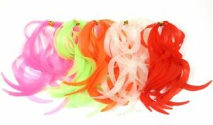 100pcs Luminous Silicone Lure Skirt Trailers Integrated Spinnerbait Buzzbait Jig