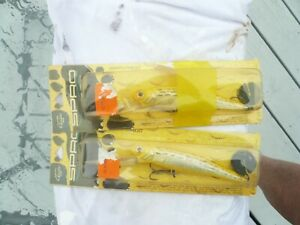 LOT OF 2 SPRO MUSKY LURES DDMINNOW65 DEEP DIVER BRIGHT YELLOW 8 1 2quot; TOTAL NIP