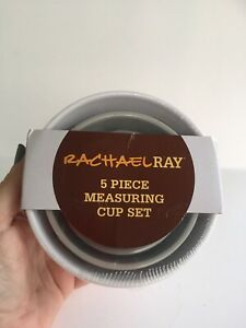 Rachel Ray Tools And Gadgets Five Piece Measuring Cup Set Assorted Colors New