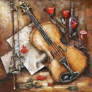 Detailed Handcrafted 32 by 32 Inches Gorgeous 3 D Guitar Wall Painting DEAL $181.30