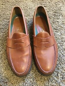 WOW SEBAGO Mens 13 Tan Leather Penny Loafers USA Dress Casual Shoes NICE