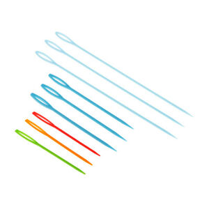 Plastic Sewing Needles 9 Pieces Weaving and Sewing Needle for Children Kids $6.32