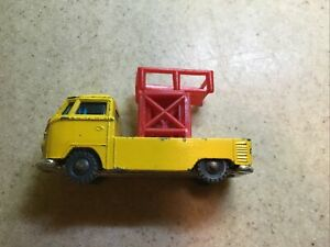 Vintage Husky Diecast Yellow Volkswagen Pick Up with Lift Made In Gt Britain