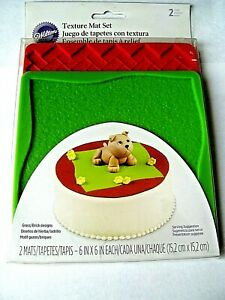 Silicone Texture Mats 2 pc from Wilton NEW GRASS BRICK FREE SH $8.99