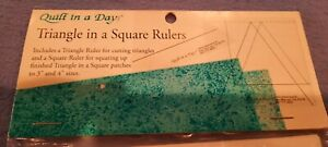 NIP QUILT IN A DAY TRIANGLE IN A SQUARE RULERS 1 TRIANGLE amp; 1 SQUARE RULER 3quot; amp; $8.00