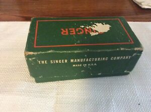 Lot of 10 Vintage Singer Sewing Machine Attachments Box $34.00