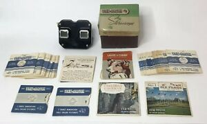 Vintage Sawyers Bakelite View Master Stereoscope with 36 3 D Reels Lone Ranger $54.99