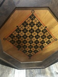 ANTIQUE WOODEN GAME BOARD REVERSIBLE $55.00