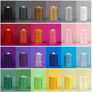24 Color Spools Sewing Thread Sets Each 1000 Yards Mixed Cotton for DIY Sewing $16.99