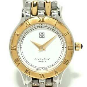 Auth GIVENCHY Silver Gold Womens Wrist Watch $168.00