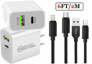 20W USB C Fast Wall Charger PD Power Adapter For iPhone 13 12 11 Pro Max iPads