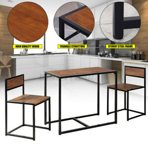 2 Seater Dining Table And Chairs Set Home Breakfast Kitchen Room Small Furniture