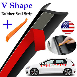 V Type Rubber Strip Tool Car Window Glass Seal Filler Noise Insulation Universal $7.59