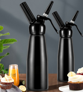 Professional Whipped Cream Dispenser Cream Maker with 3 Nozzles Cleaning Brush
