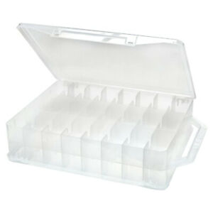Caboodle Double Sided Clear Plastic Thread Organizer w 46 Fixed Compartments $19.99