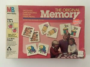 Vintage 1986 The Original Memory Matching Game Complete Red Tray #4664 $17.99