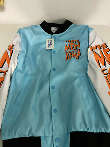 Vintage Bomber White Men Can't Jump Jacket by Chalk Line Size S Collectible