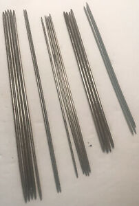 Vintage No Name Lot of Metal Double Pointed Needles Various Sizes $7.95