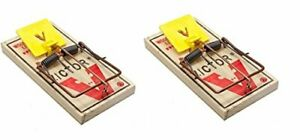 2 M326 Pro Wood Rat Snap Traps Kill Rats and other rodents
