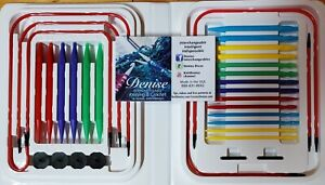 Primary Colored Denise Interchangeable Knitting Needles 10 sets of Needles $45.00