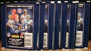 2021 PANINI NFL STICKERS 10 PACKS WITH 5 STICKERS PER PACK NEW 👀� $30.00