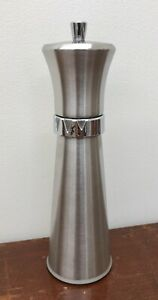 Williams Bounds 8 Brushed Stainless Pepper Spice Mill Adjustable Grind