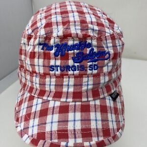 VTG Womens STURGIS Motorcycle Rally KNUCKLE SALOON Hat $8.49
