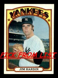 1972 Topps 249 525 EX EX MT Pick From List All PICTURED $0.99