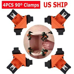 4Pcs Set 90 Degree Right Angle Clip Clamps Corner Holders Woodworking Hand Tools $8.95
