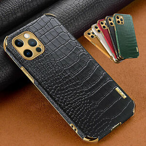 For iPhone 13 12 Pro Max 11 XS XR 8 7 6 Luxury Crocodile Leather Case Slim Cover $7.11