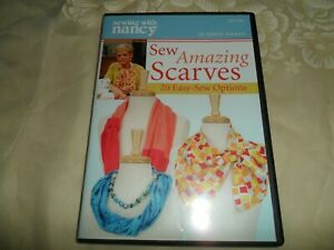 Sewing with Nancy DVD Sew Amazing Scarves 20 Options EUC $5.95