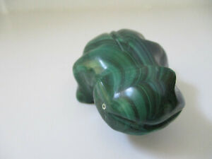 Green Frog Collectible Malachite? 1 1 2quot; tall 2 1 2 long