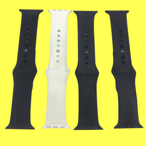 LOT of 4 OEM Apple Watch Sport Silicone Band S M 38mm #7305 z65 b111 $26.99