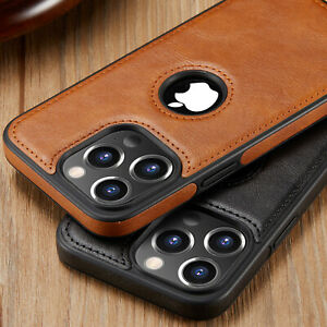 For iPhone 13 12 Pro Max Case Slim Leather Luxury Thin Shockproof Cover Casus 11 $9.95