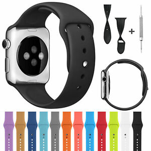 For Apple Watch Sport Silicone Band Soft Strap Series 5 4 3 38mm 42mm 40mm 44mm $6.41
