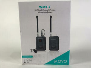 Movo WMX 7 UHF Dual CHanel Microphone System. Open Box. $75.00