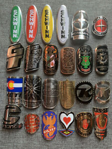 2PCS vintage cycling Bicycle Bike Alloy Head Badge Decals Stickers emblem $10.00